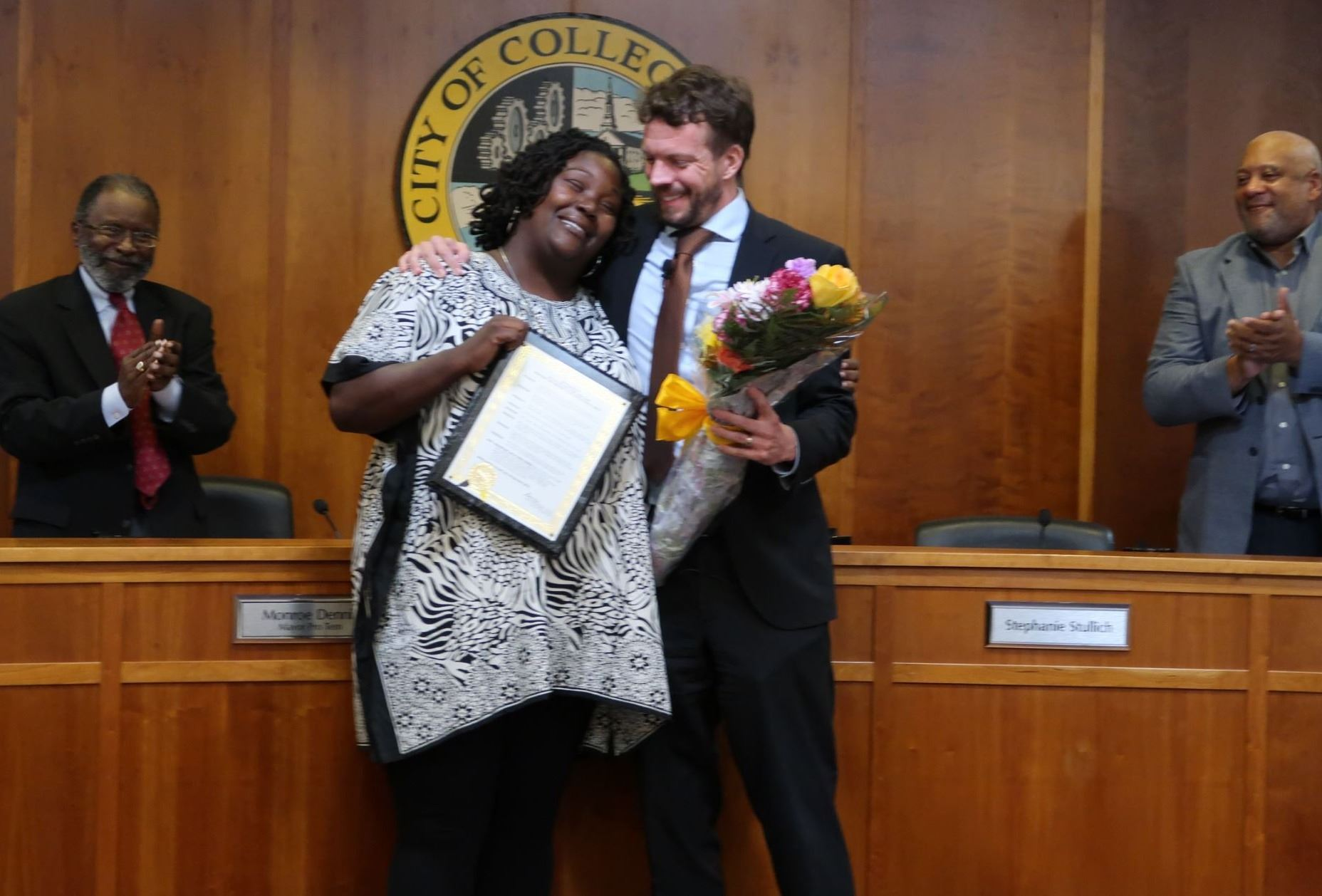 Renita Smith Recognition at Council Meeting