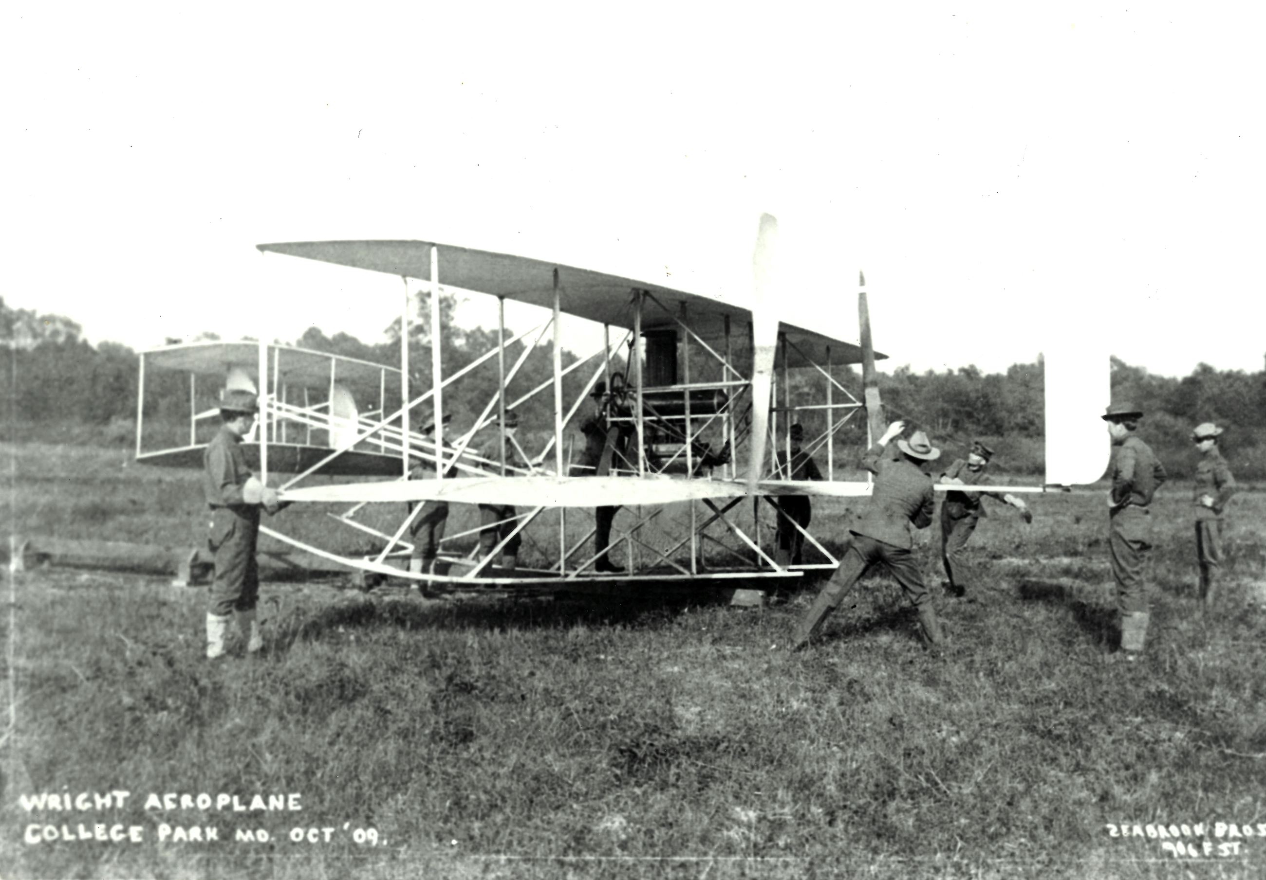 Wright Aeroplane College Park October 1909